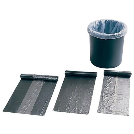 Sacs poubelle 30 l, gris, 50x60cm, Standard (Par 40)