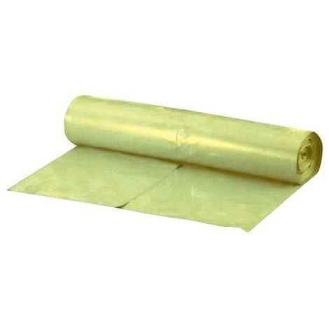 Sacs poubelle 70 l jaune ca. 38 my Rouleau de 25 pièces. (Par 10)
