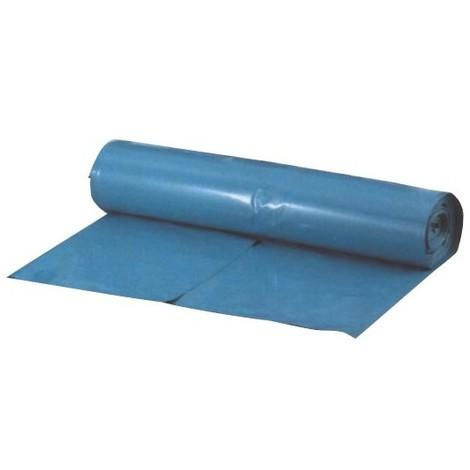 Sacs poubelle 800x1000 mm bleu 45 my Rouleau de 25 pièces (Par 10)