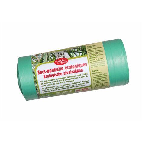 Sacs poubelle éco-plastiques ROULEAUX 30 L