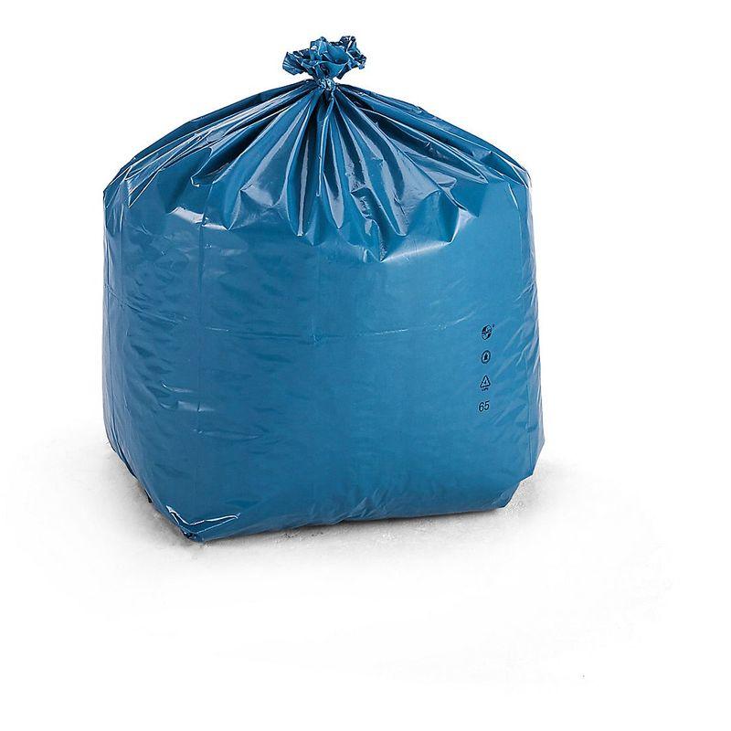 Sacs-poubelle en polyéthylène - capacité 80 l - L x l x h 500 x 450 x 900 mm, bleu, lot de 150 - Coloris: Bleu