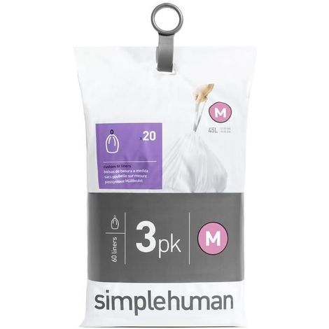 Sacs poubelle Simplehuman Pocket Liners 25 L Code M