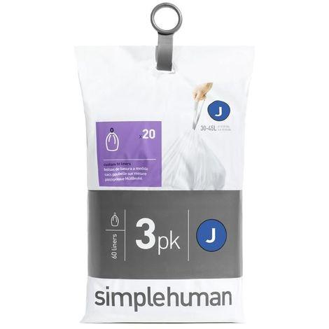 Sacs poubelle Simplehuman Pocket Liners 30 L Code J