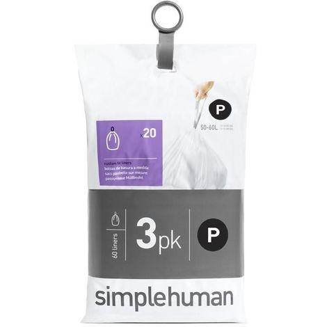 Sacs poubelle Simplehuman Pocket Liners 50-60 L Code P