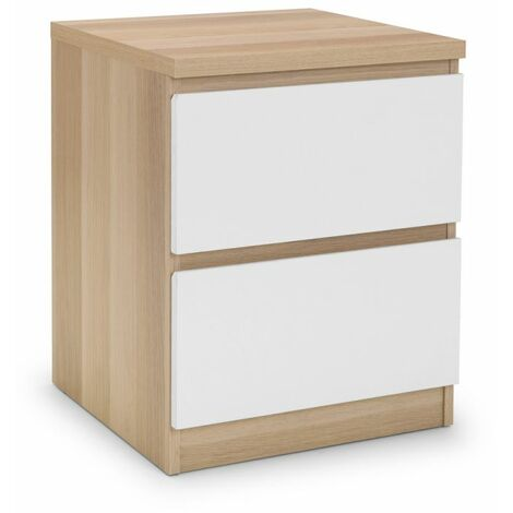 Sadat 2 Drawer Bedside White/Oak