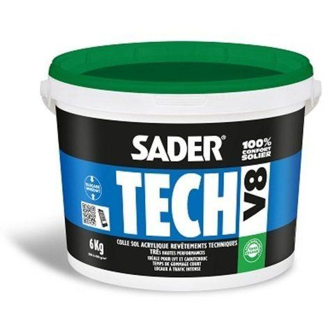 SADERTECH V8 - 6kg - Colle sol acrylique hautes performances - BOSTIK