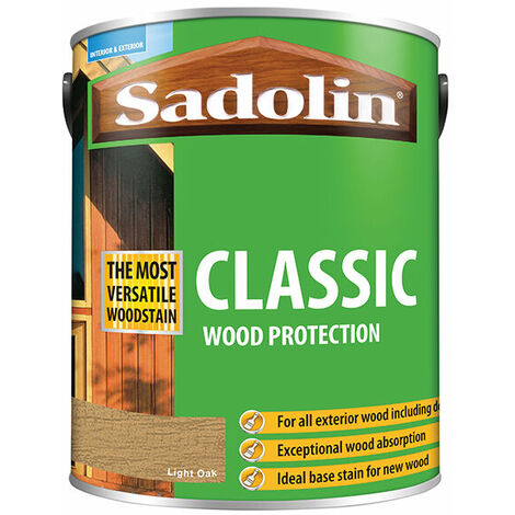 "main image of ""Sadolin 5012923 Classic Wood Protection Light Oak 5 Litre"""