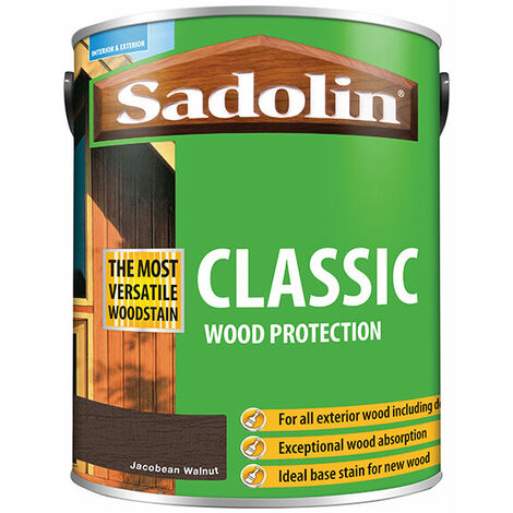 Sadolin 5028467 Classic Wood Protection Jacobean Walnut 5 Litre