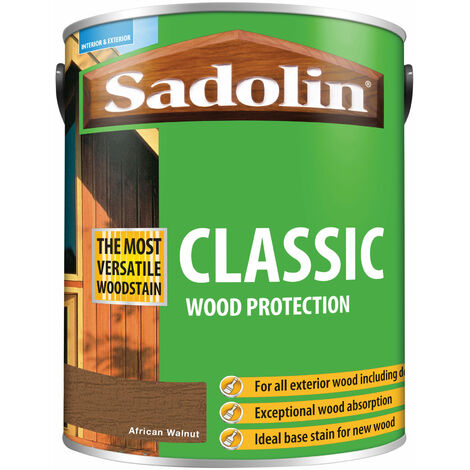 Sadolin 5028485 Classic Wood Protection African Walnut 5 litre