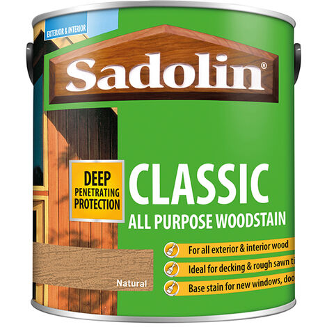 Sadolin 5028503 Classic Wood Protection Natural 2.5 Litre