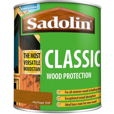 "main image of ""Sadolin 5090979 Classic Wood Protection Heritage Oak 1 Litre"""