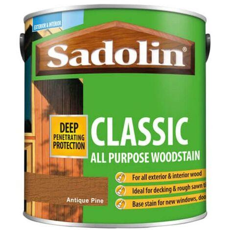 Sadolin Classic All Purpose Woodstain - Antique Pine - 2.5L