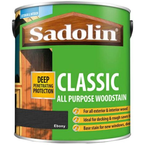 Sadolin Classic All Purpose Woodstain - Ebony - 2.5L