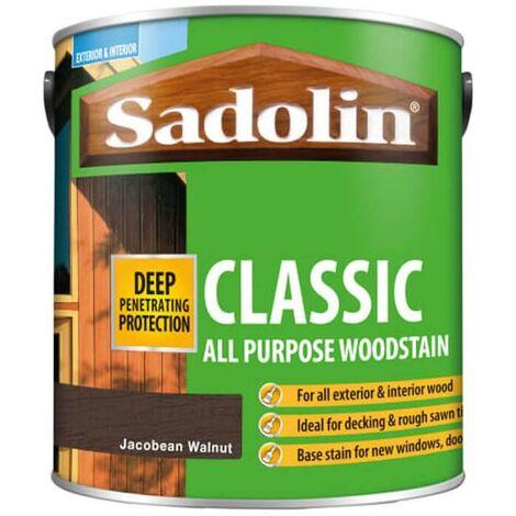 Sadolin Classic All Purpose Woodstain - Jacobean Walnut - 2.5L