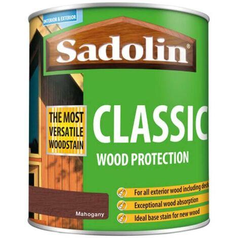 Sadolin Classic All Purpose Woodstain - Mahogany - 1L