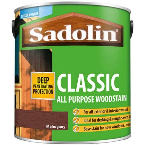 Sadolin Classic All Purpose Woodstain - Mahogany - 2.5L