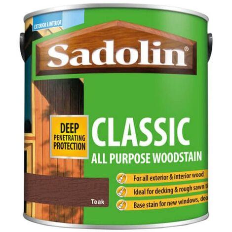 Sadolin Classic All Purpose Woodstain - Teak - 2.5L