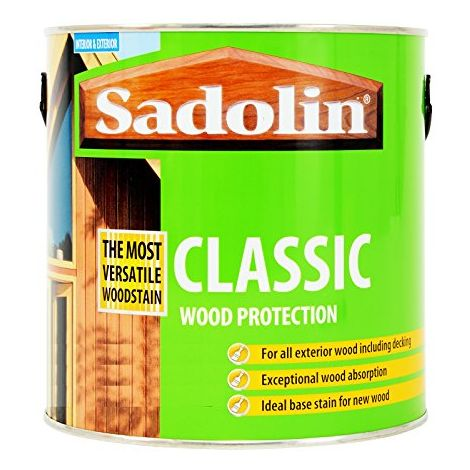 Sadolin Classic Basecoat Woodstain Jacobean Walnut - 2.5 Litres