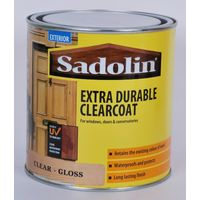 Sadolin Exterior Extra Durable Clearcoat Gloss Varnish (485459) - 1 Litre