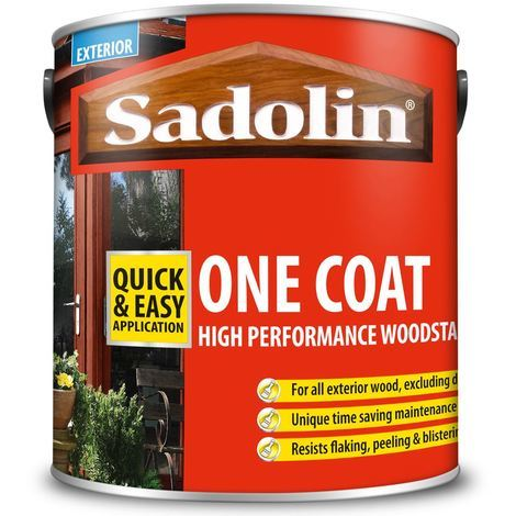 Sadolin Redwood One Coat Woodstain Exterior Paint DIY High Performance 2.5L