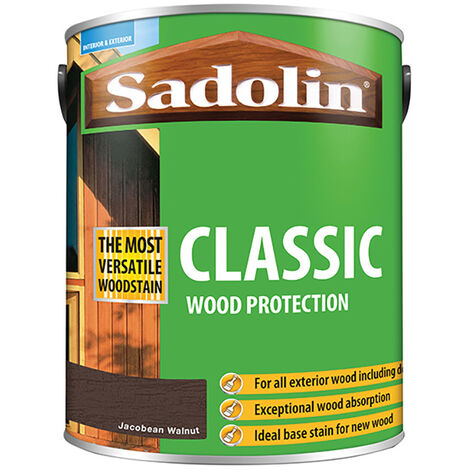 Sadolin SAD5028467 Classic Wood Protection Jacobean Walnut 5 litre