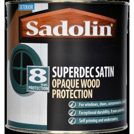Sadolin Superdec Satin Opaque Woodstain Black - 1 Litre
