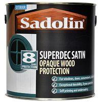 Sadolin Superdec Satin Opaque Woodstain Superwhite - 5 Litres