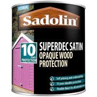 Sadolin Superdec Satin Woodstain 2.5ltr Black