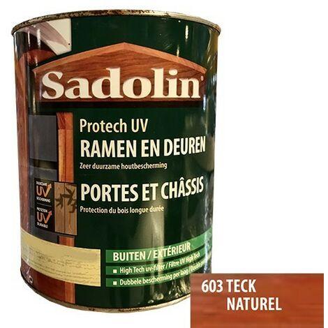 SADOLIN-WOODLOVER Lasure Portes et chassis Protech UV Teck naturel (603) 0,75 L