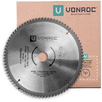Sägeblatt für Kapp- und Tischsägen - 254 mm - 80 Zähne – für Holz – Universal
