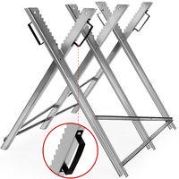 Sägebock | Metall | 83x81x88cm | verzinkt | 150kg Belastbarkeit | Sägegestell Holzsägebock Säge Kettensägebock Holzbock