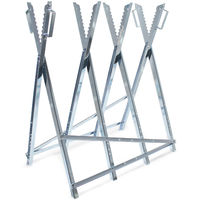 Sägebock verzinkt mit Haltegriffen und Zahnung klappbar Holzschneidebock Sägehilfe Kettensägebock