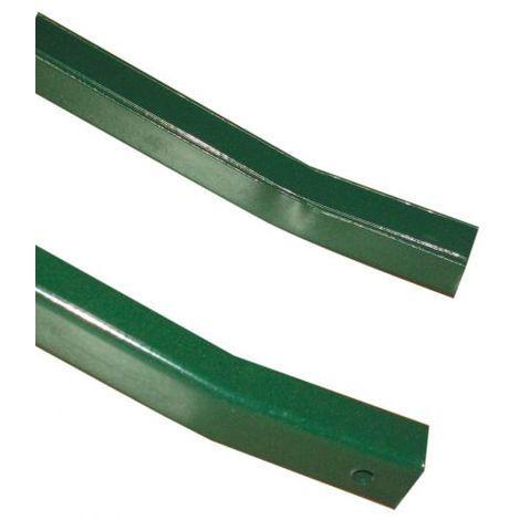 PALETTO a T Altezza 150 cm in Acciaio PLASTICATO VERDE 30X30X3,5 PAPILLON 10 pz