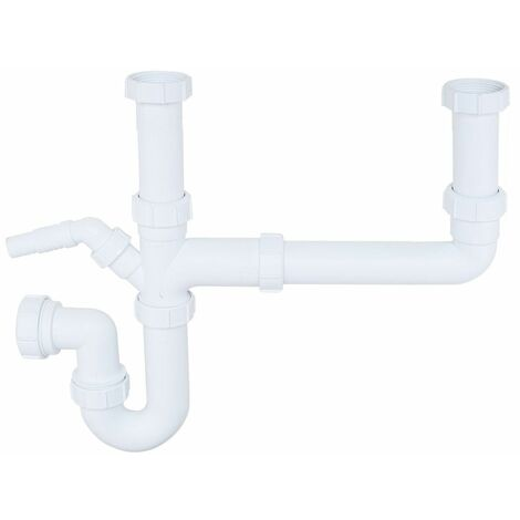 """main image of """"Säuber 1.5 Bowl Kitchen Sink Waste Pipe Kit Easy To Fit Durable Plastic"""""""