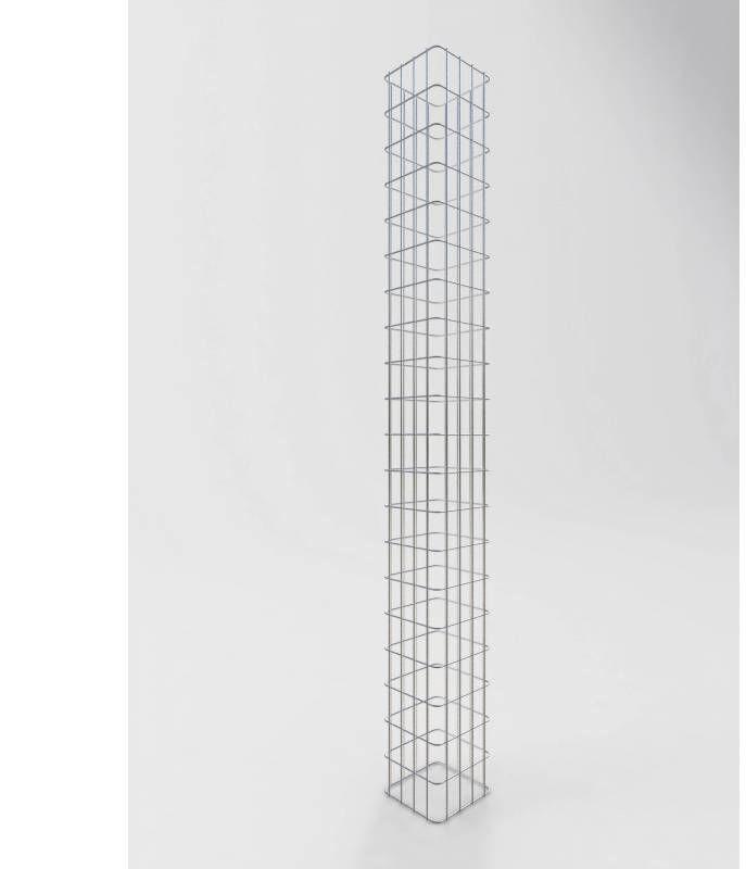 Maschenweite 5 x 10 cm Gabione//Säule Höhe 160 cm GABIONENSÄULE eckig 22 x22 cm