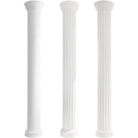 Säulen und Halbsäulen | Fassade | rund | Set Auswahl | 405mm | LC103
