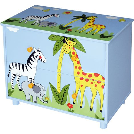 Safari Cabinet With 2 Drawers