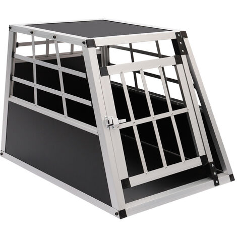 Safe Dog Crate Transport Carrier Travel Box Car Cage 1 Door Aluminium