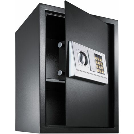 Safe, electronic + key model 4 large - key safe, home safe, electronic safe - black