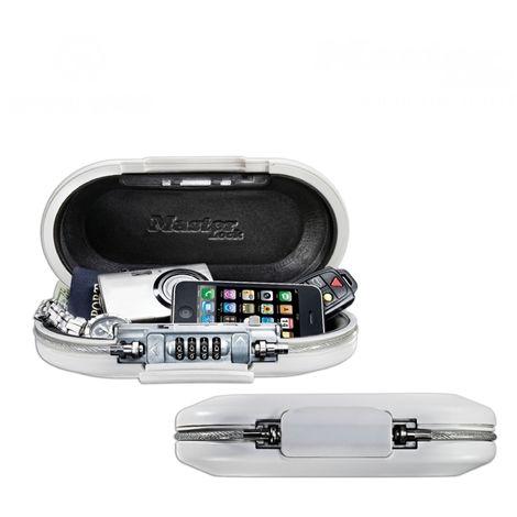 SAFE SPACE Minisafe Dokumentenkassette 6x24x12,9cm weiß