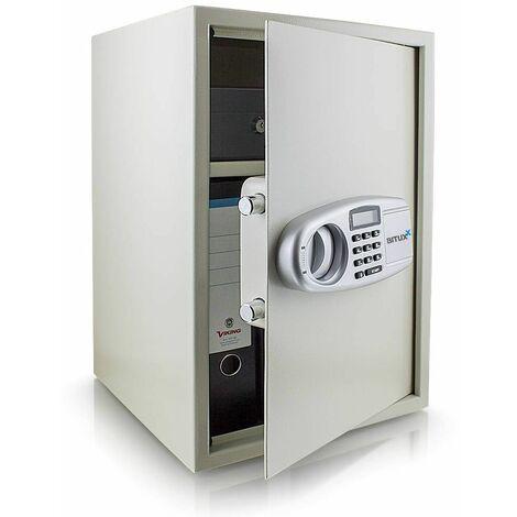 Safe Tresor Möbeltresor Wandtresor Aktentresor Geldschrank Maße(B/H/T): 350 mm x 520 mm x 360 mm - Türstärke: 4 mm lichtgrau