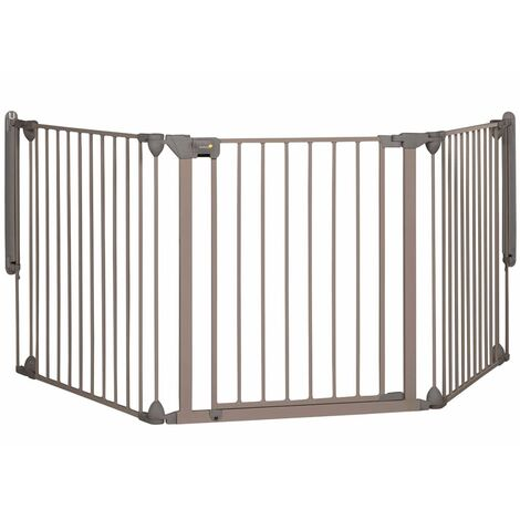 Safety 1st Safety Gate Toddler Baby Pet Security Door Sturdy Extra-Wide Child-Friendly Modular Panels Metal Light Grey Multi Sizes