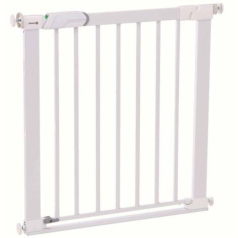 Safety 1st Valla de seguridad Flat Step 73 cm metal blanco 2443431000 - Blanco