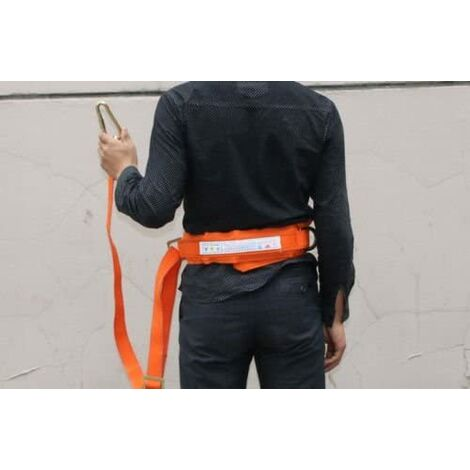 """main image of """"Safety Belt with Adjustable Lanyard, Tree Climbing Construction Harness Protective Gear, Personal Protection Fall Arrest Kit"""""""