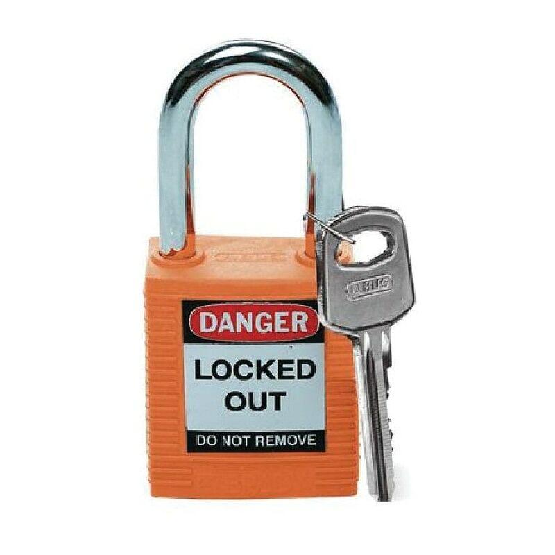 Image of 051347 Safety Padlock Keyed Differently Orange - Brady