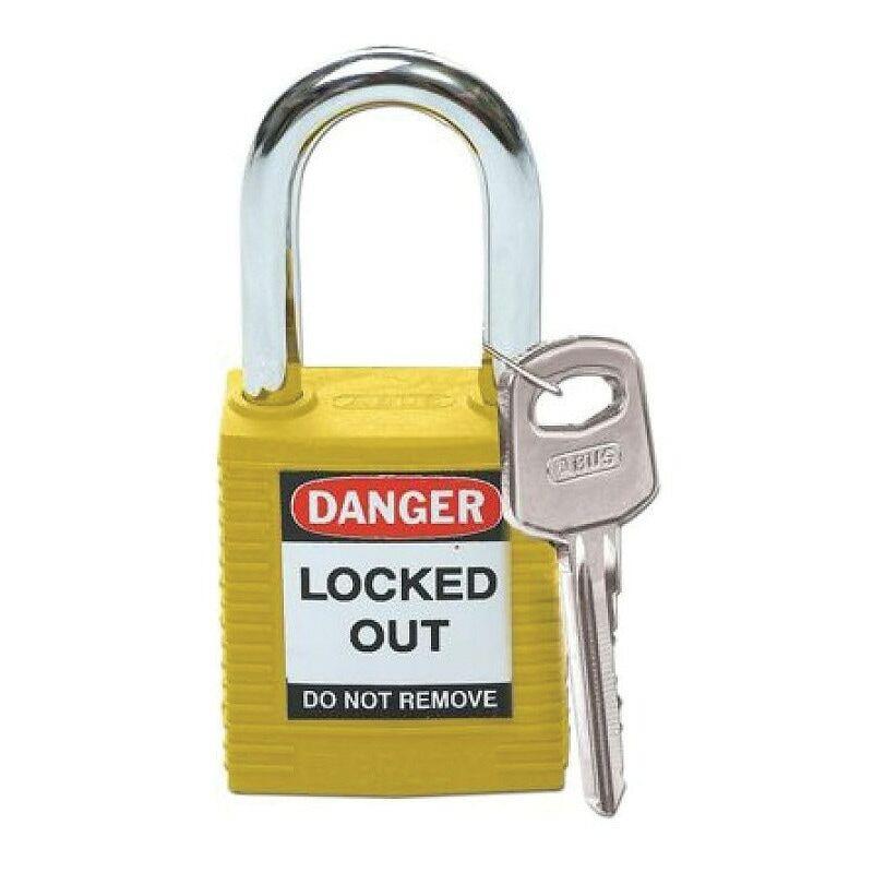 Image of 051346 Safety Padlock Keyed Differently Yellow - Brady