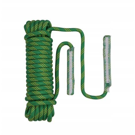 Safety rope nylon rope climbing rope outdoor climbing rope climbing rope rescue rope descent rope climbing rope 14mm green (10 meters + 2 carabiner curves