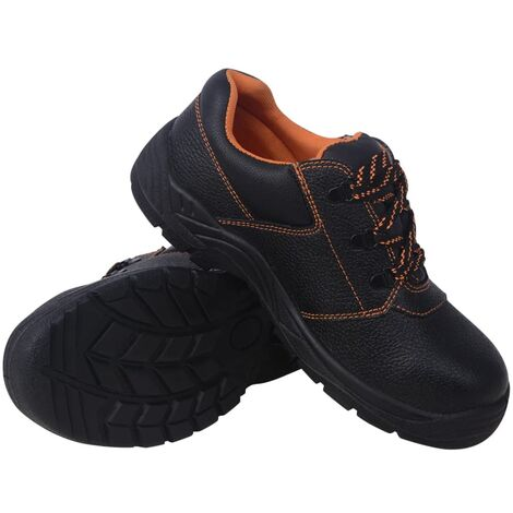 Safety Shoes Black Size 7.5 Leather