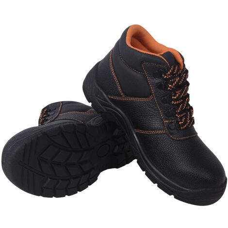 Safety Shoes Black Size 8.5 Leather