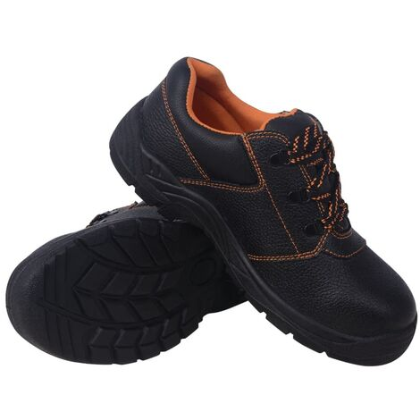Safety Shoes Black Size 9.5 Leather
